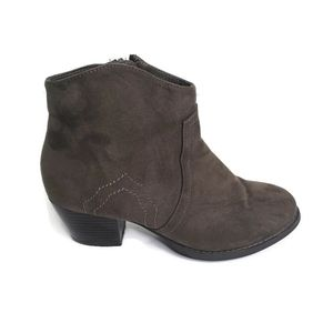 Nicole Faux Suede Booties Size 7